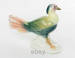 1920's Rare Karl Ens Germany Antique Porcelain Statue Figurine Pheasant Marked