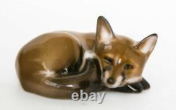 1950 Rosenthal Vintage Porcelain Statue Figurine Fox Marked Made in Germany