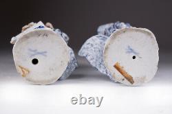 Antique 18th Original pair Porcelain Figurine Meissen Malabar Musicians Marked