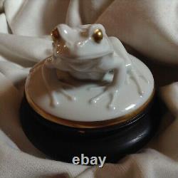 Antique 1922 Rosenthal Signed Moldenhauer Frog German Porcelain Figurine Gold