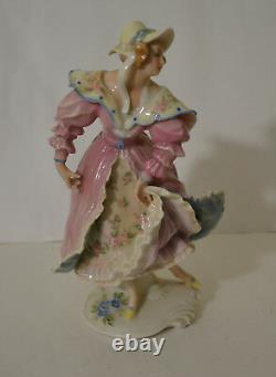 Antique Art Deco Karl Ens Germany Porcelain Dancing Lady Figurine
