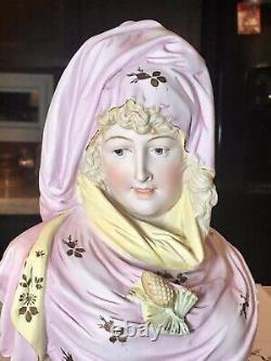 Antique Carl Schneider Bisque Bust Figurine
