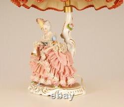 Antique Dresden figurine German porcelain Lace figurine Ballerina Lamp
