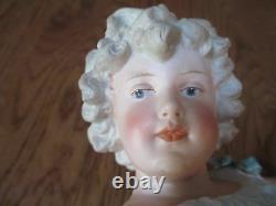 Antique Gebruder Heubach 15 1/2 Tall Dancing Girl German Bisque Piano Figurine