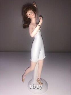 Antique German Goebel Bisque Porcelain Lady Woman Figurine Figure Bathing Beauty