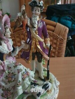 Antique German Volkstedt large Porcelain Figurine group RARE