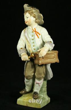 Antique Kpm Berlin Germany Porcelain Figurine Of A Young Gentleman