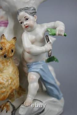 Antique Nymphenburg figurine 725 Cherubs Catching Birds WorldWide