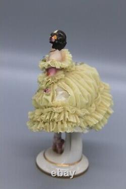 Antique RUDOLSTADT Volkstedt Dresden Lace Porcelain Ballerina Tamara Krasavina
