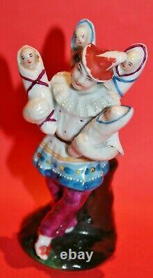 Antique fine early german porcelain china miniature figurine Kindlbringer 3.5
