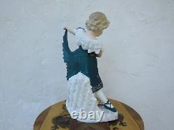 August Antique Gebruder Heubach Dancing Girl Bisque Piano 15.5 Figurine, c. 1890