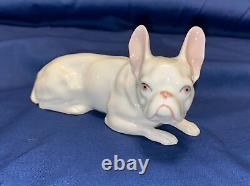 French Bulldog Vintage Porcelain Heubach Germany Dog Figurine