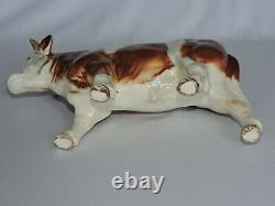 Goebel Hereford Bull Western Germany Brown White Vintage Collectible Porcelain