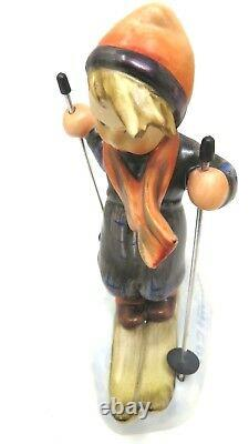 Goebel Hummel Germany Vintage Figurines. Skier -Ski-Heil