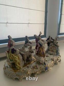 Large Volkstedt Dresden Porcelain Musical Group Figure