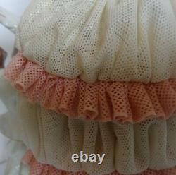Porcelain lace figurine DDR Unterweissbach 1960s Free International Shipping