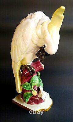 Rare Large Antique Hutschenreuther Porcelain parrot Cockatoo Figurine