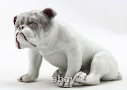 Rare antique porcelain English Bulldog by Gebruder Heubach Lichte made 1900-1910