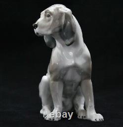 Rare antique porcelain German Shorthaired Pointer Dog Jagdhund by KVE, Karl Ens