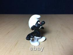 Smurfs 20007 Angry Smurf Black Teeth Vintage Figure Rare Schleich Peyo Figurine