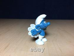 Smurfs 20071 Flying Smurf Angel Feather Wings Vintage Figure PVC Toy Figurine