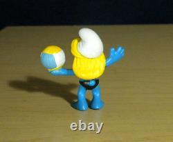 Smurfs 20738 Beach Volleyball Smurfette Vintage Smurf Figure PVC Toy Figurine