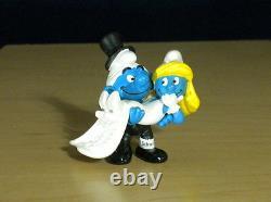 Smurfs 20746 Smurfette Bride & Smurf Groom Vintage Wedding Cake Topper Figurine