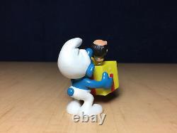 Smurfs 40247 Jokey Smurf Trick Box Gargamel Head Vintage Figure PVC Toy Figurine
