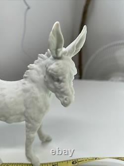 VTG AK Kaiser White Porcelain Matte Finish Donkey Figurine West Germany New