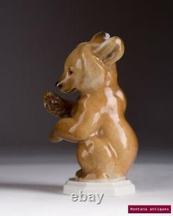 Vintage 1930s Original Germany Collectible figurine Brown Bear ALLACH Marked