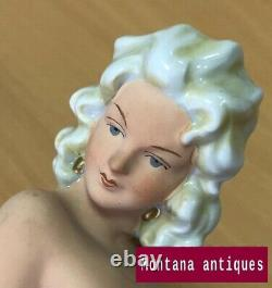 Vintage 20th Original Old Germany Nude girl Porcelain Figurine marked