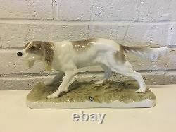 Vintage Antique German Nymphenburg Porcelain Setter Hunting Dog Figurine PJ Mene