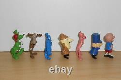 Vintage Complete Set PINK PANTHER Mr Magoo Figurine Figure Heimo 70's
