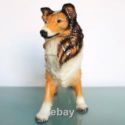 Vintage Figurine German GOEBEL COLLIE DOG UNDAMAGED! XXL! Porcelain Mid Century