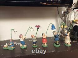 Vintage German Erzgebirge Wendt & Kuhn Flower Children set of 6 RARE