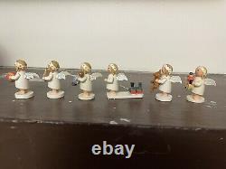 Vintage German Erzgebirge Wendt & Kuhn Set /6 Toy Angels 1 1/2 RARE