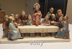 Vintage Goebel The Last Supper Jesus Apostles W GERMANY HX286 Early 1960s