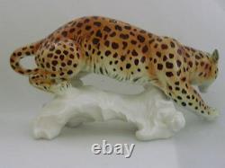 Vintage Huge Karl Ens Leopard Porcelain Ceramic Figurine Sculpture Germany 16
