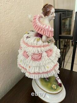 Vintage Porcelain /Volkstedt /Dresden Lace-Ballerina Fanny Elssler