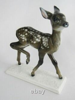 Vintage Rosenthal Germany Porcelain Prancing Fawn Baby Deer Figurine