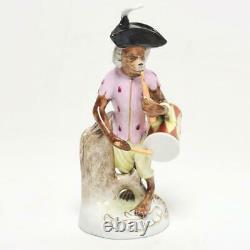 Vintage Scheibe-alsbach Porcelain Monkey Band Musician Figurine, Drummer