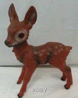 Vtg Zeho Ges Gesch German Deer Fawn Hard Plastic